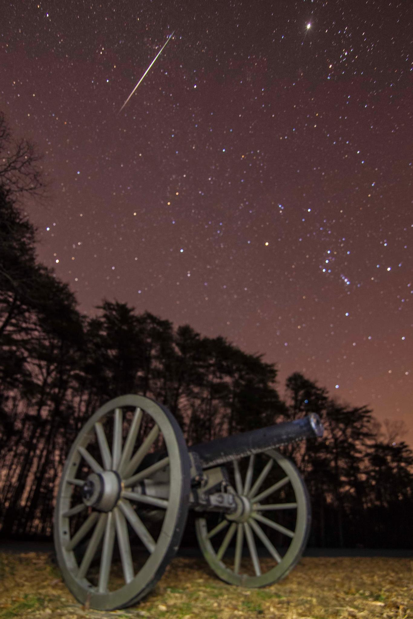 Geminids Over Virginia Battlefield