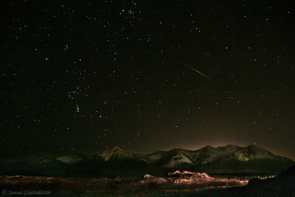 Geminid Meteor Shower Over Iceland