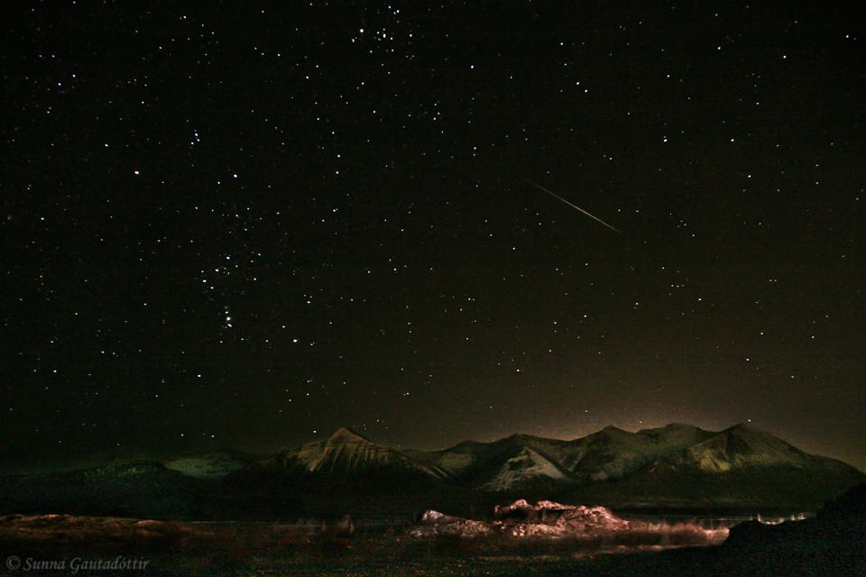 Geminid Meteor Shower Over Iceland