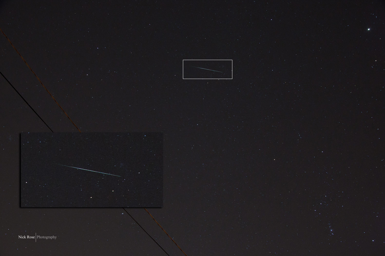 Geminid Meteor Shower Over San Mateo