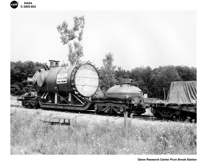 Space History Photo: Pressure Tank Shipped via Railway