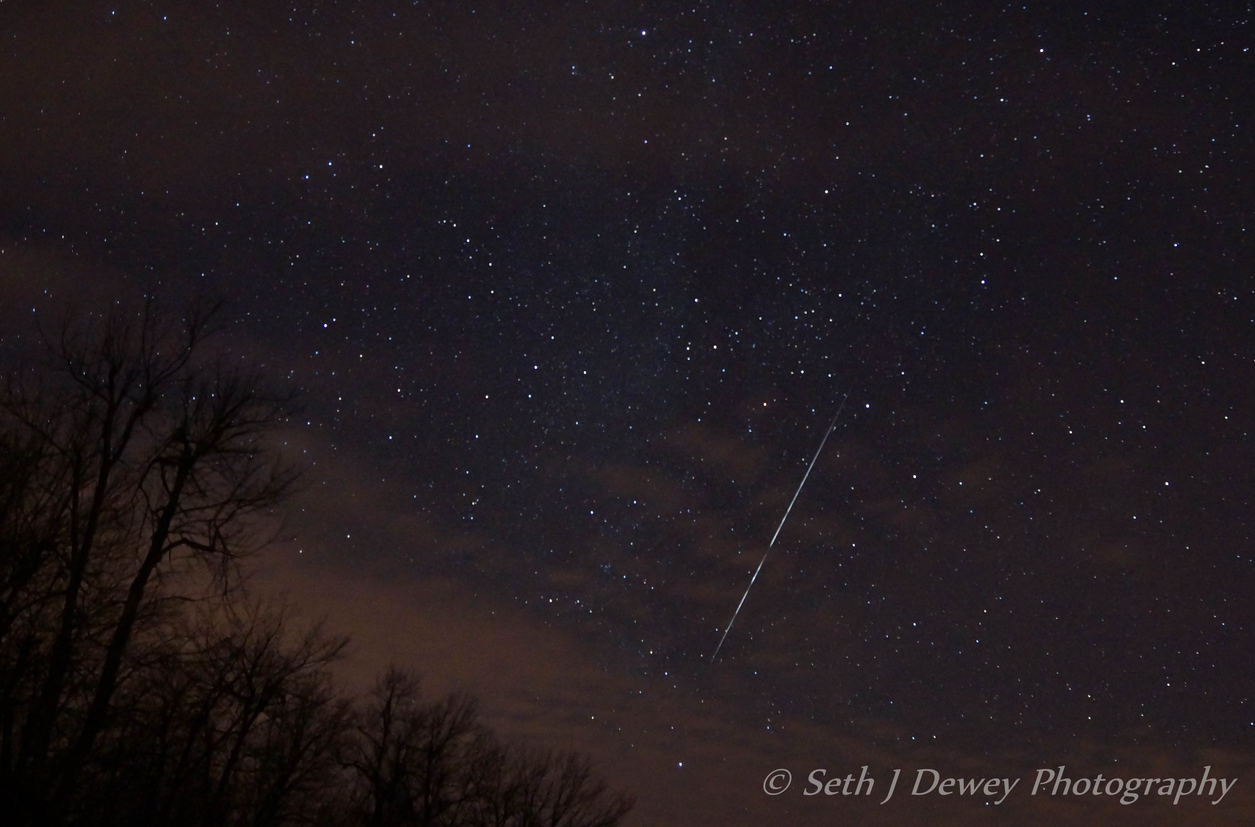 Geminid Meteor Over New Hampshire