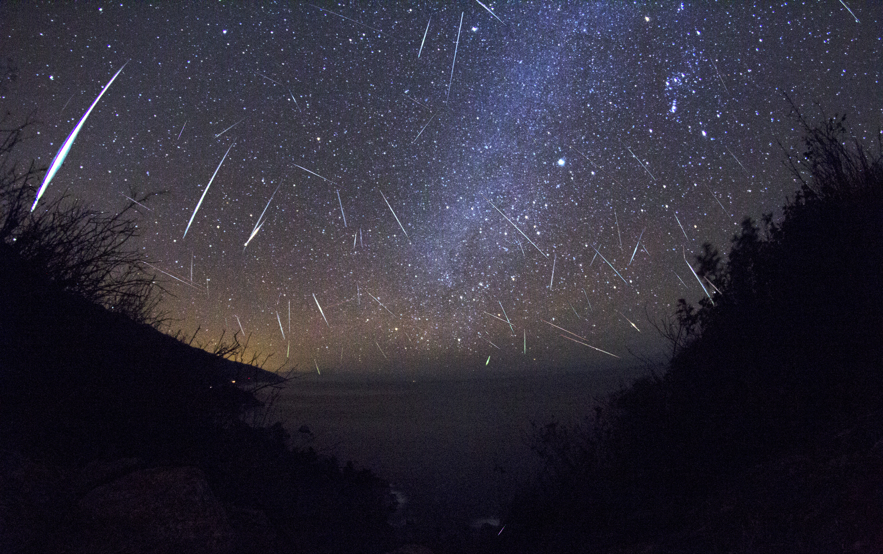 Geminids from Big Sur