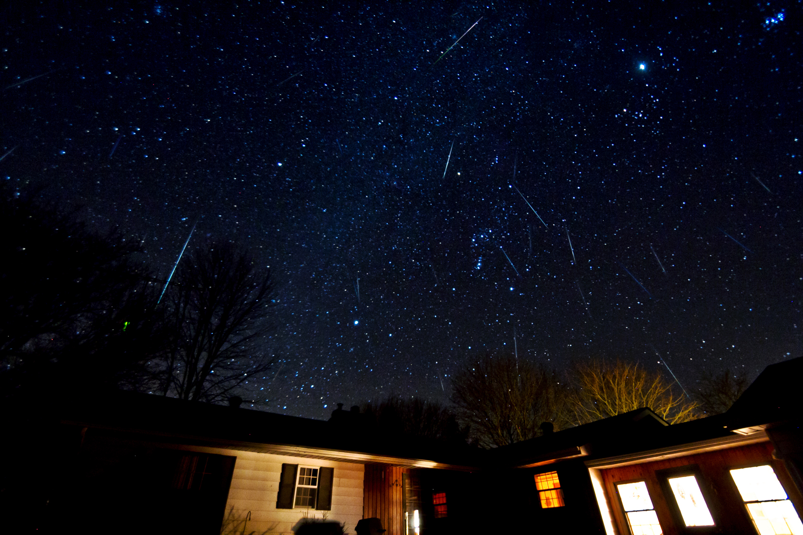 Geminid Meteor Shower Over Canada