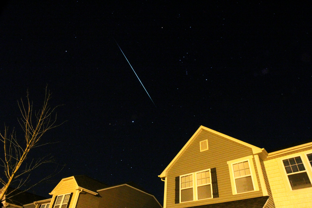 Geminid Meteors From the Driveway