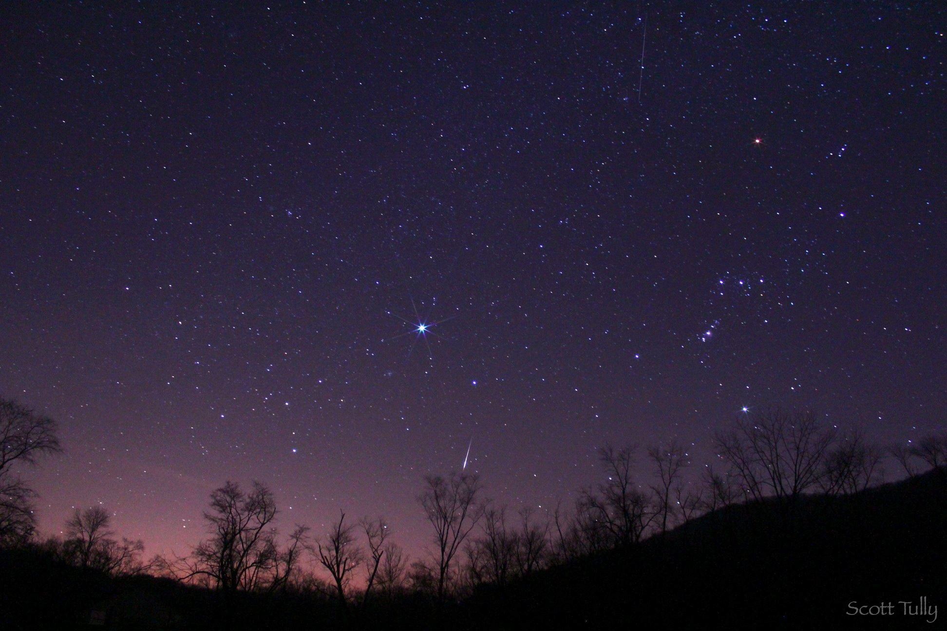 Geminid Meteor From the Northwest Hills of Connecticut.