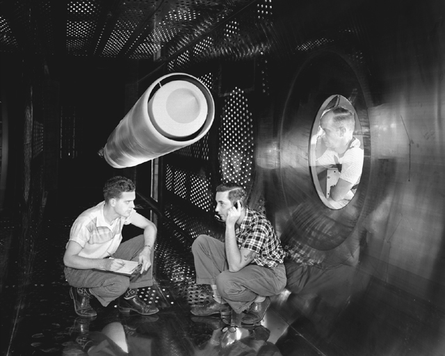 Space History Photo: Supersonic Wind Tunnel Test Section