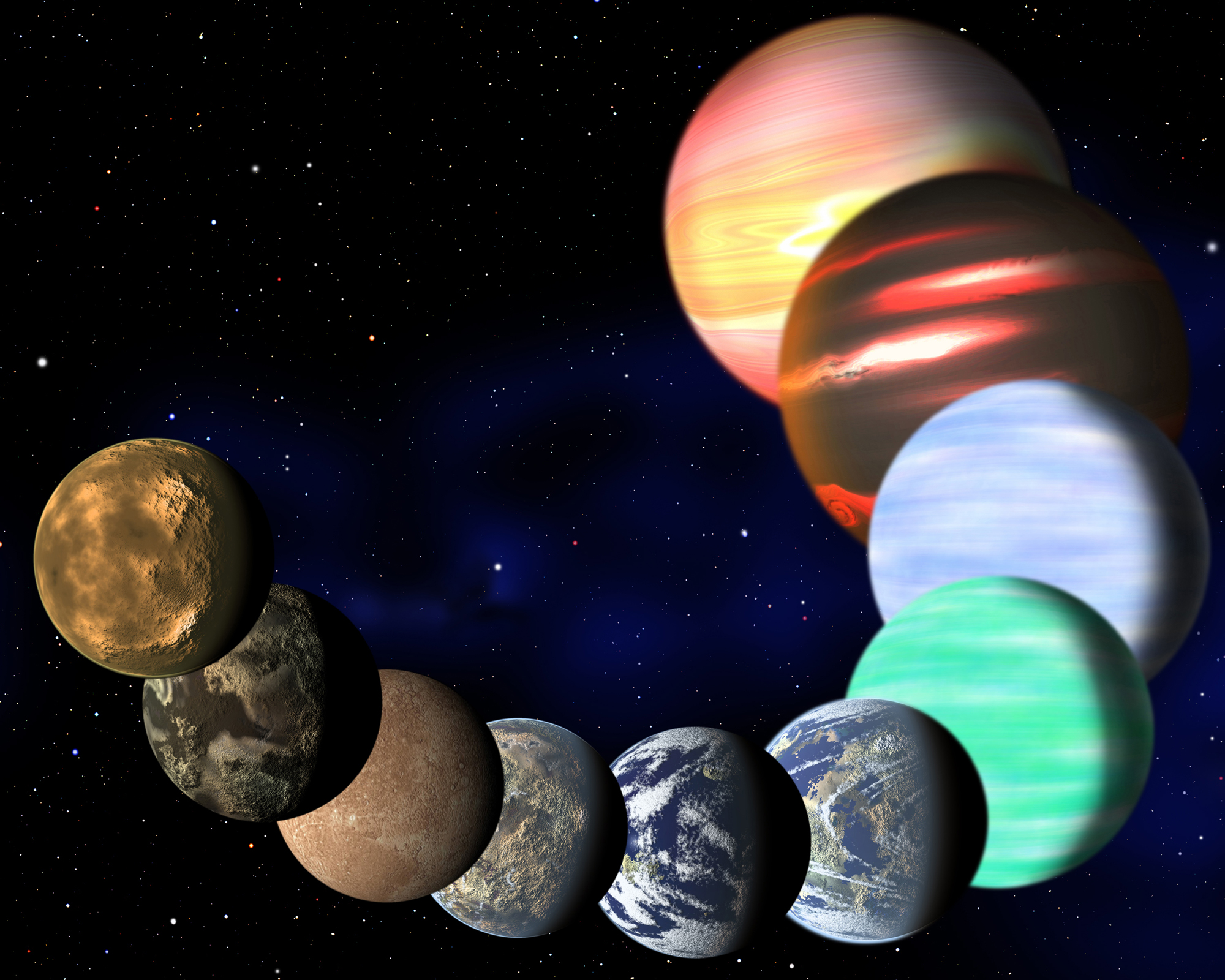 Alien Planets, Giant Galaxies and More