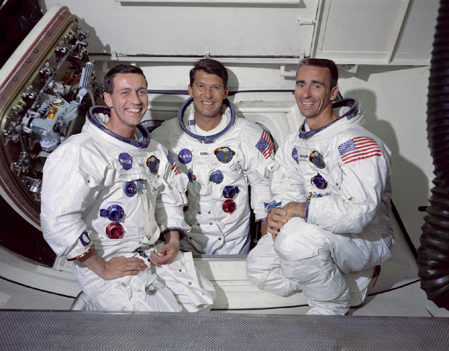 Space History Photo: The Apollo 7 Prime Crew