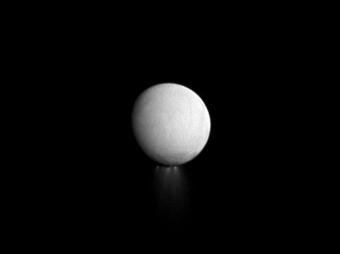Enceladus Jets at Sunset
