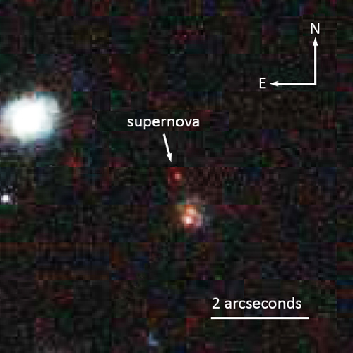 Most Distant Type 1a Supernova