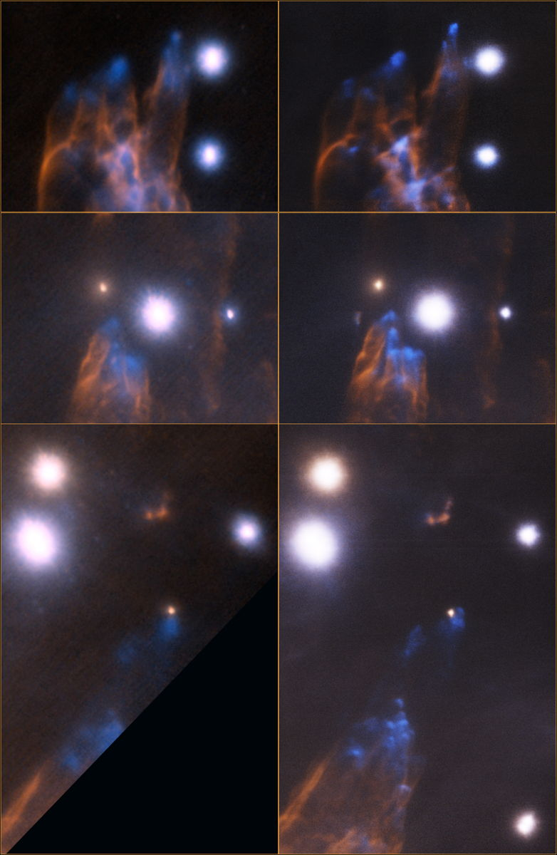 Detailed Views of the Orion Bullet Region