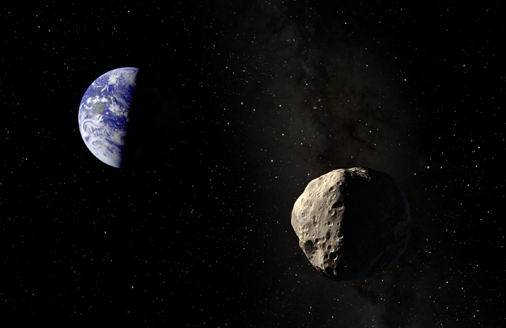 An artist s illustration of asteroid apophis near earth the asteroid