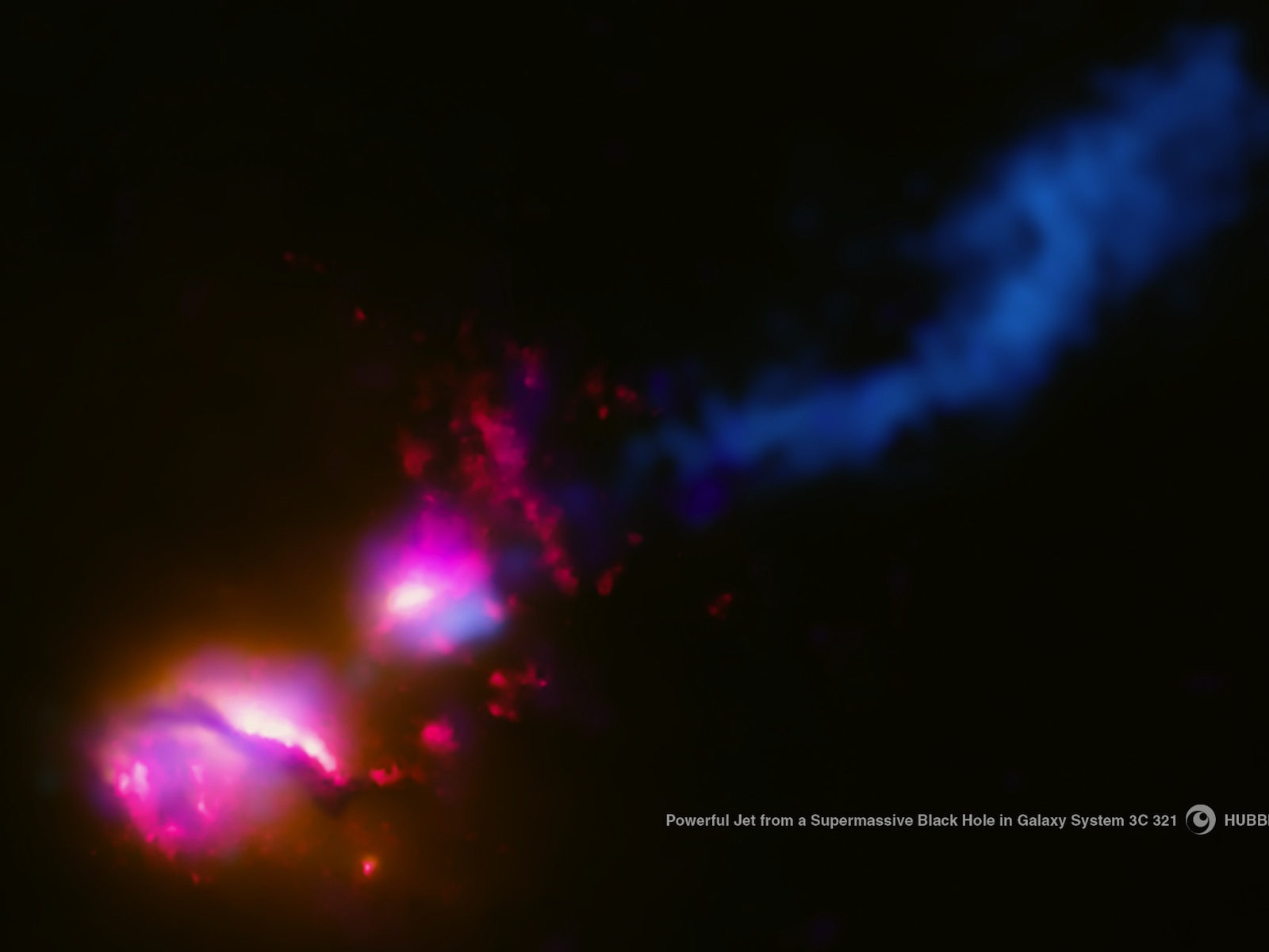 Black Hole in Galaxy System 3C 321