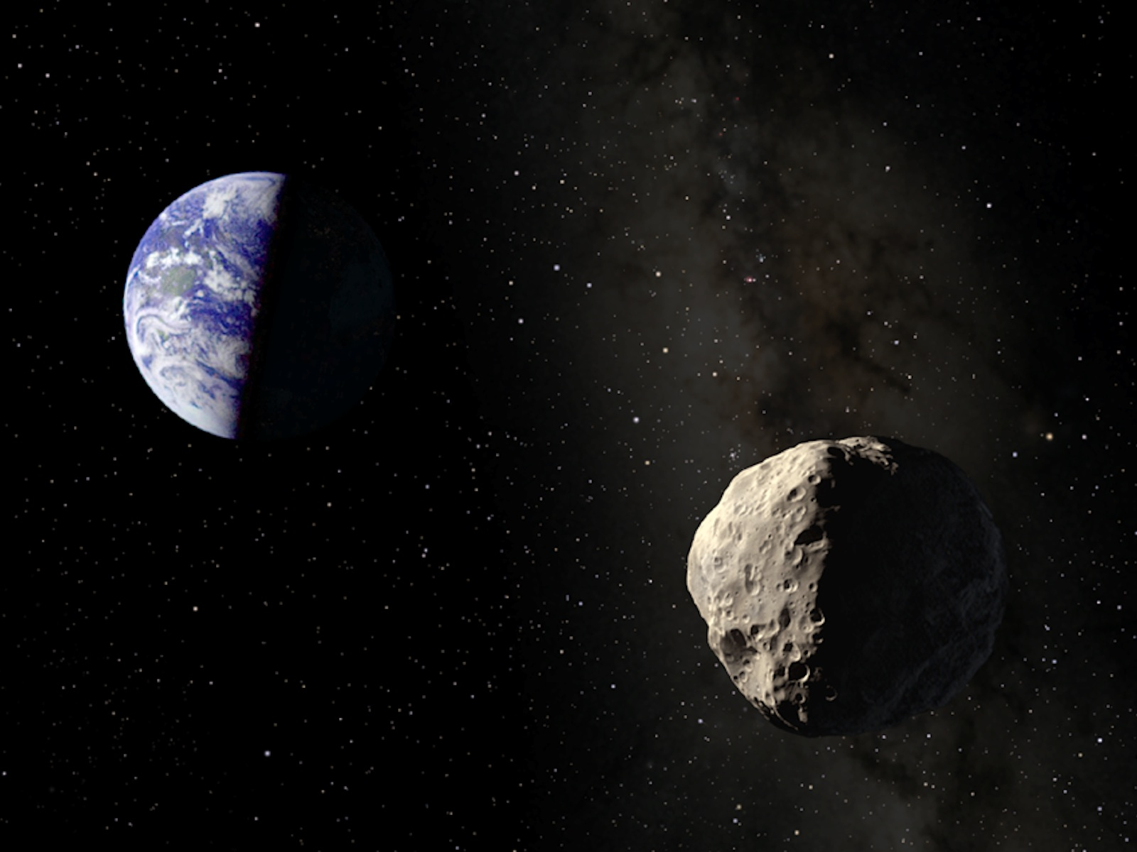 Asteroid Apophis Illustration