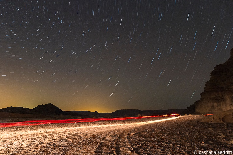 Spectacular Star Trails Dazzle Over Jordan Desert (Photo)