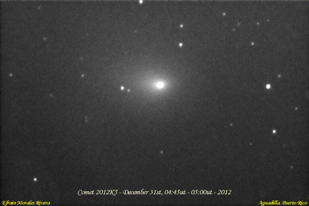 Comet C/2012K5 Approaching Earth