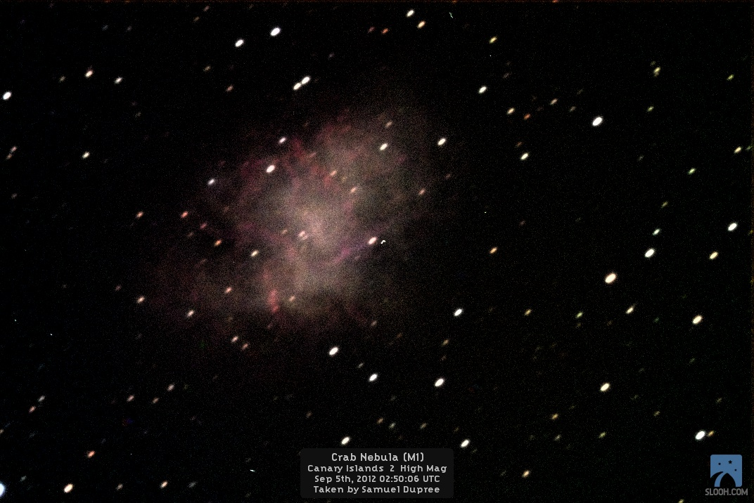 Crab Nebula by Slooh Space Camera