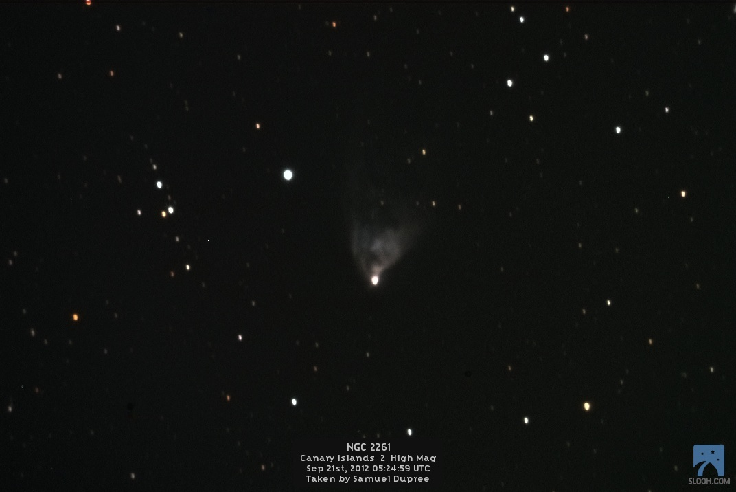 Hubble's Variable Nebula by Slooh Cam