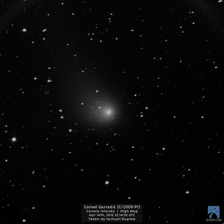 Comet Garradd by Slooh Space Camera