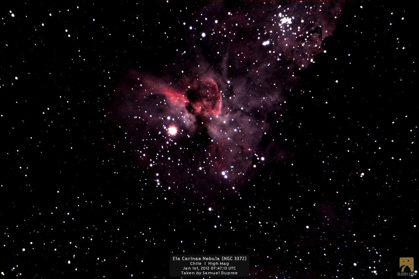 Slooh Space Camera Captures NGC 3372 or the Eta Carinae Nebula