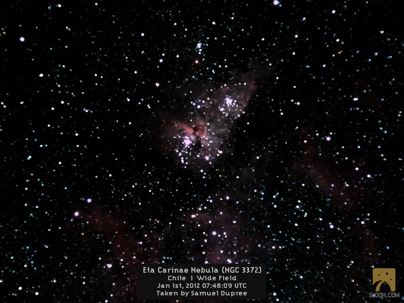 Slooh Space Camera Captures NGC 3372 or the Eta Carinae Nebula- Wide Field Image
