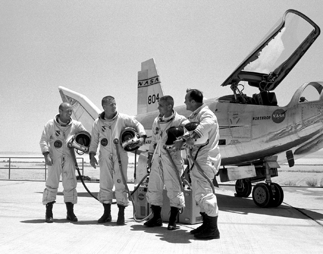 Space History Photo: HL-10 On Rogers Dry Lake Bed With Pilots