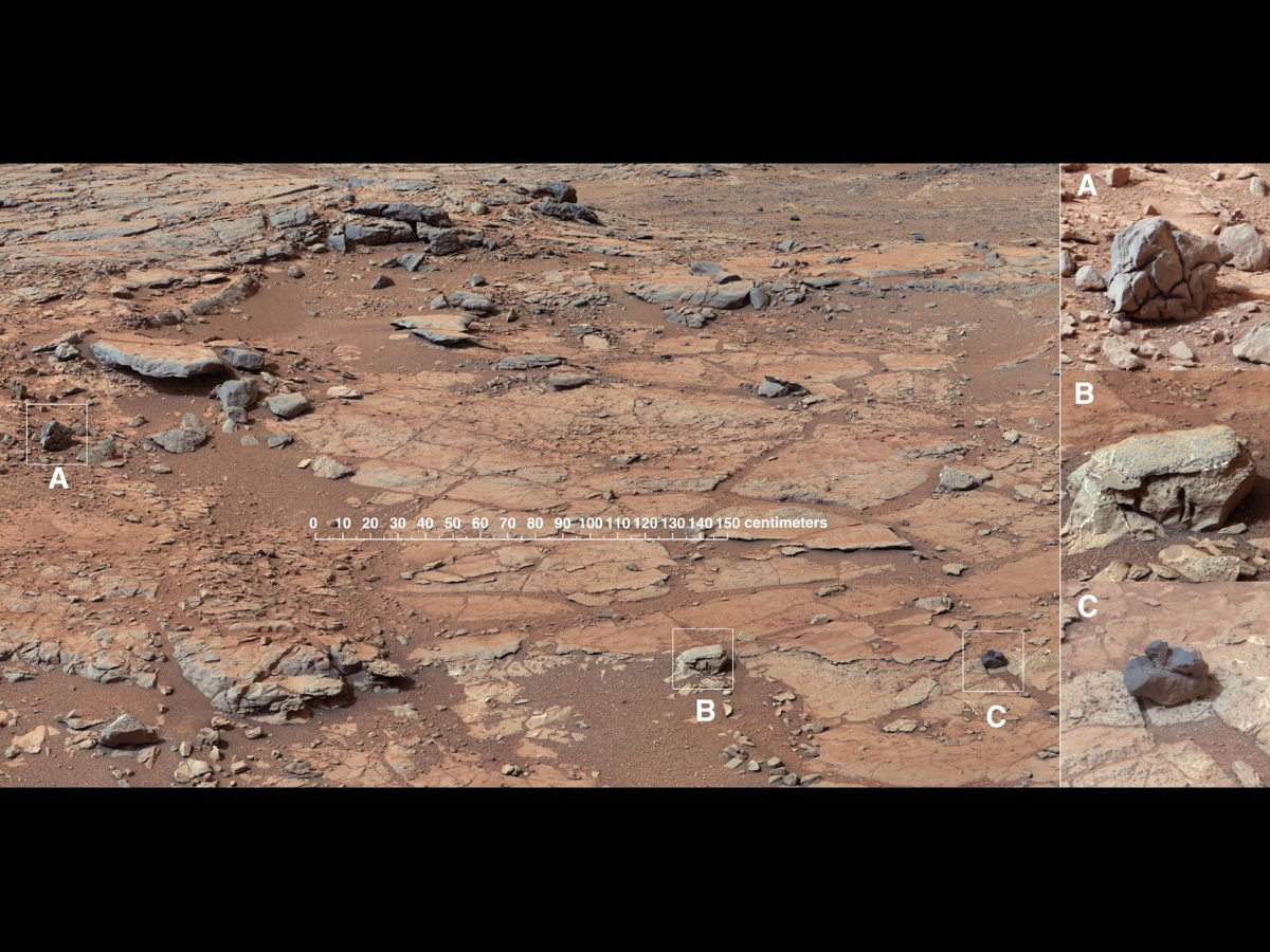Diversity in Vicinity of Curiosity's First Drilling Target