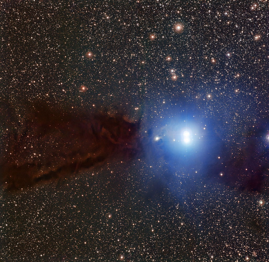 Smoke-Black Space Cloud Hides Baby Stars in Amazing Photo