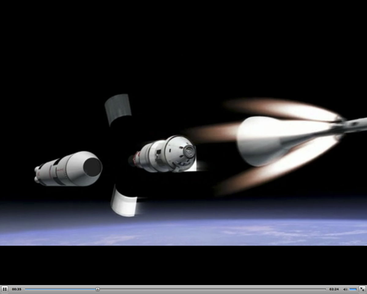 Orion Capsule 2017 Test Flight Stage Separation