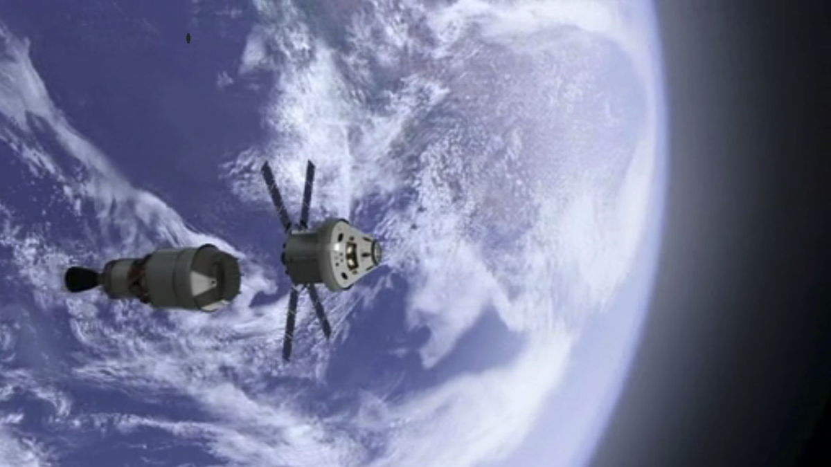 Orion Crew and Service Module Separation