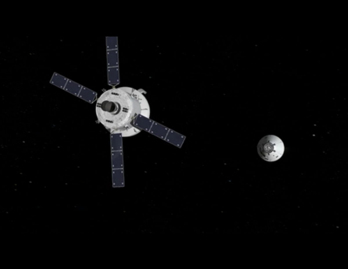 Orion Capsule 2017 Test Flight Crew Module Separation