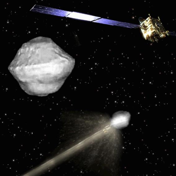 space probe comet impact - photo #24