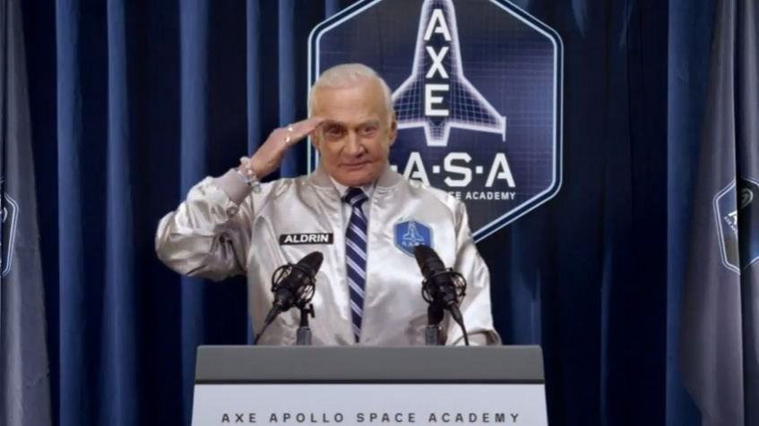 Buzz Aldrin and AXE Apollo Space Academy