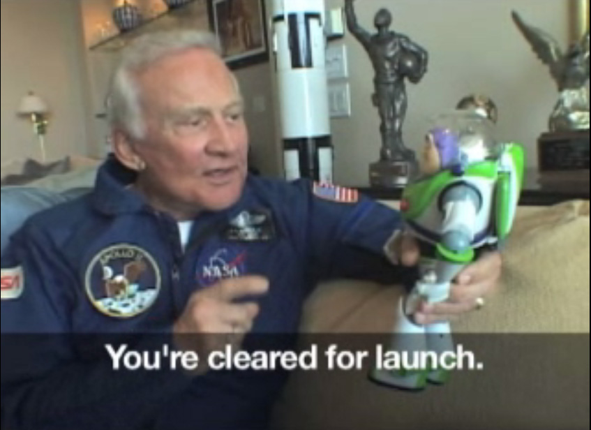Buzz Aldrin Meets Buzz Lightyear