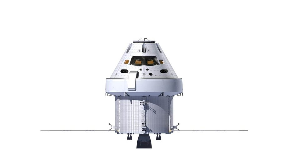 Orion Space Capsule Side View