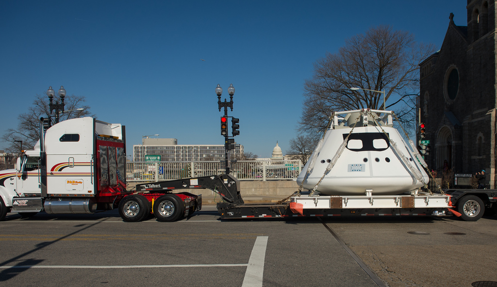 Orion Space Capsule Replica Ready for Parade