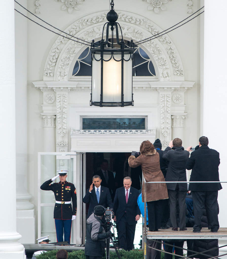 President Barack Obama Salutes at the 2013 Inaguration