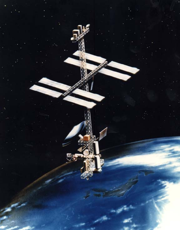 Space History Photo: Power Tower Space Station Concept