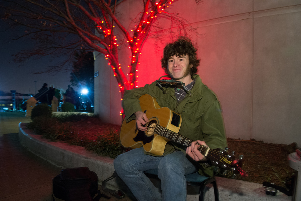 Musician Ryan Carol at NASA Star Party