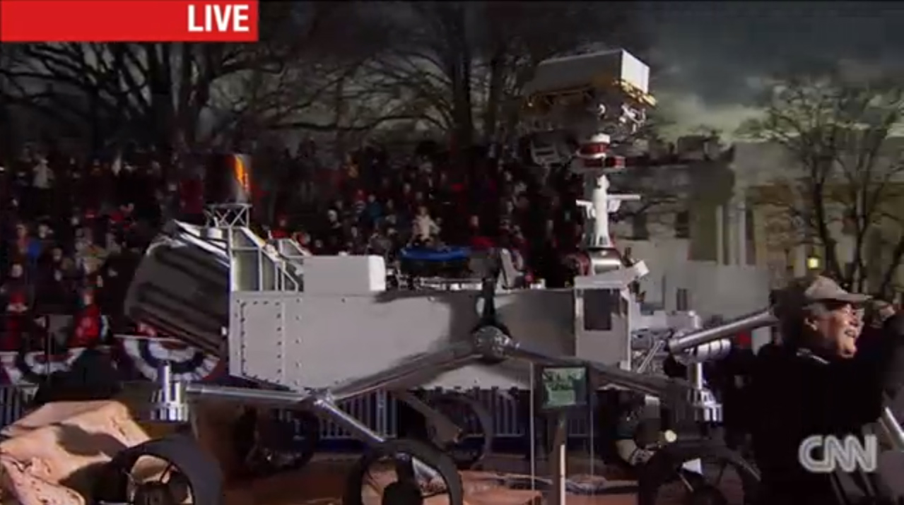 Curiosity Replica In Obama's Inaugural Parade