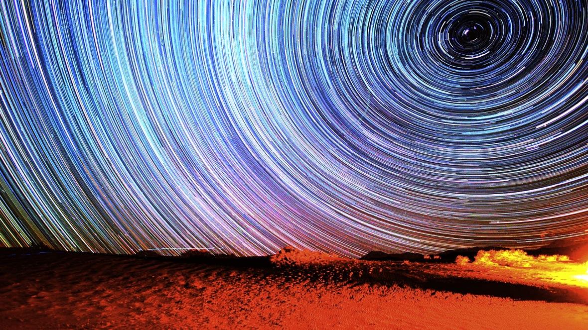 Star Trails at Eureka Dunes