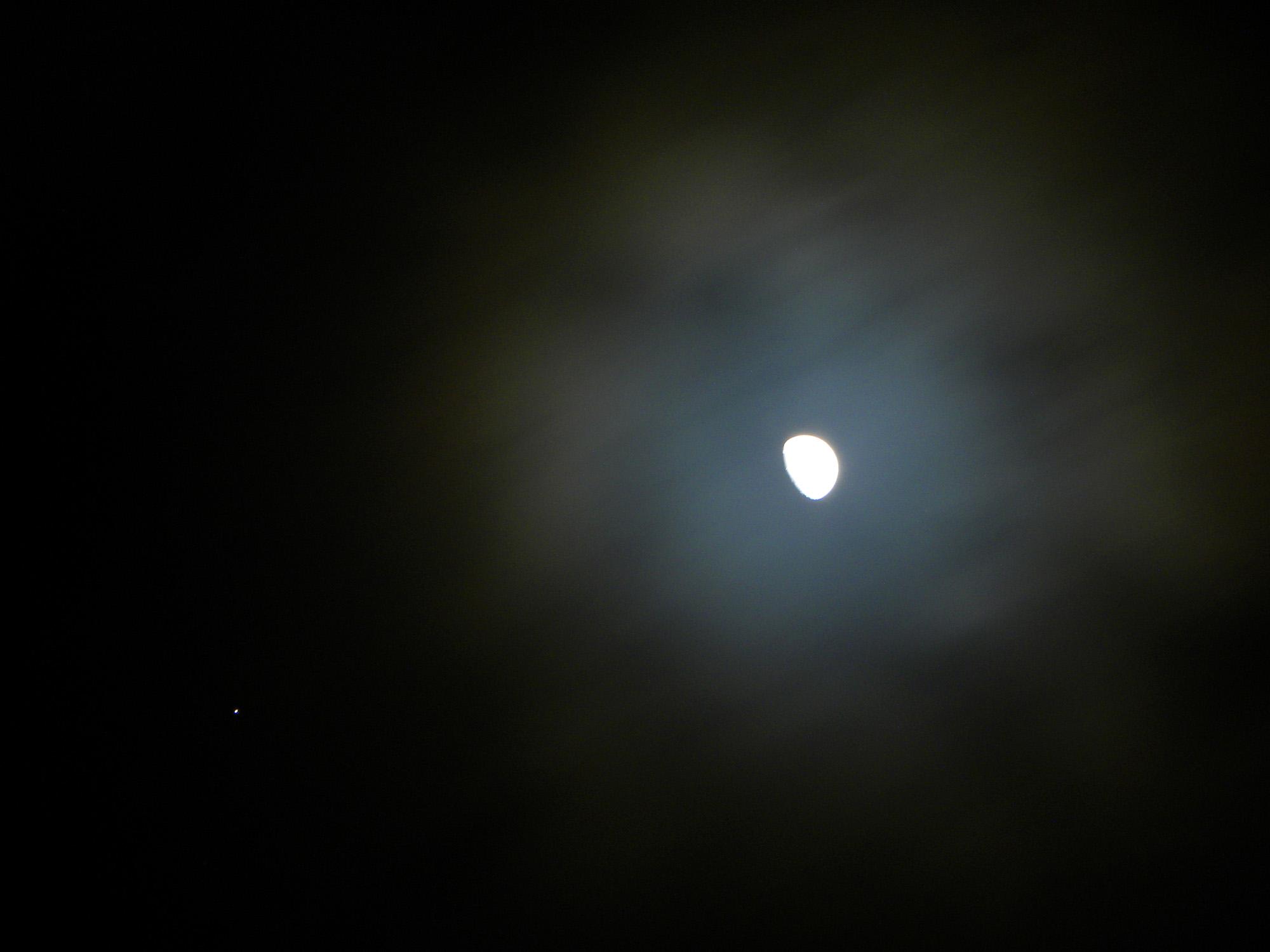Jupiter Near the Moon: Giuseppe Petricca