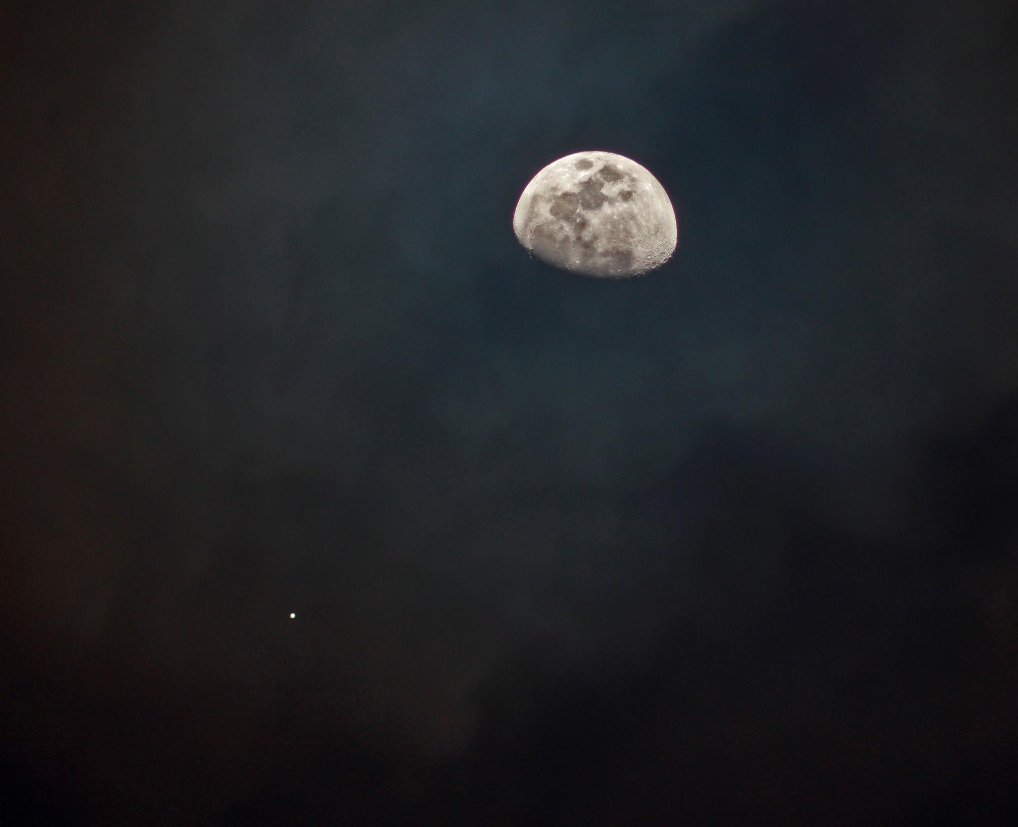 Jupiter and Moon in Conjunction