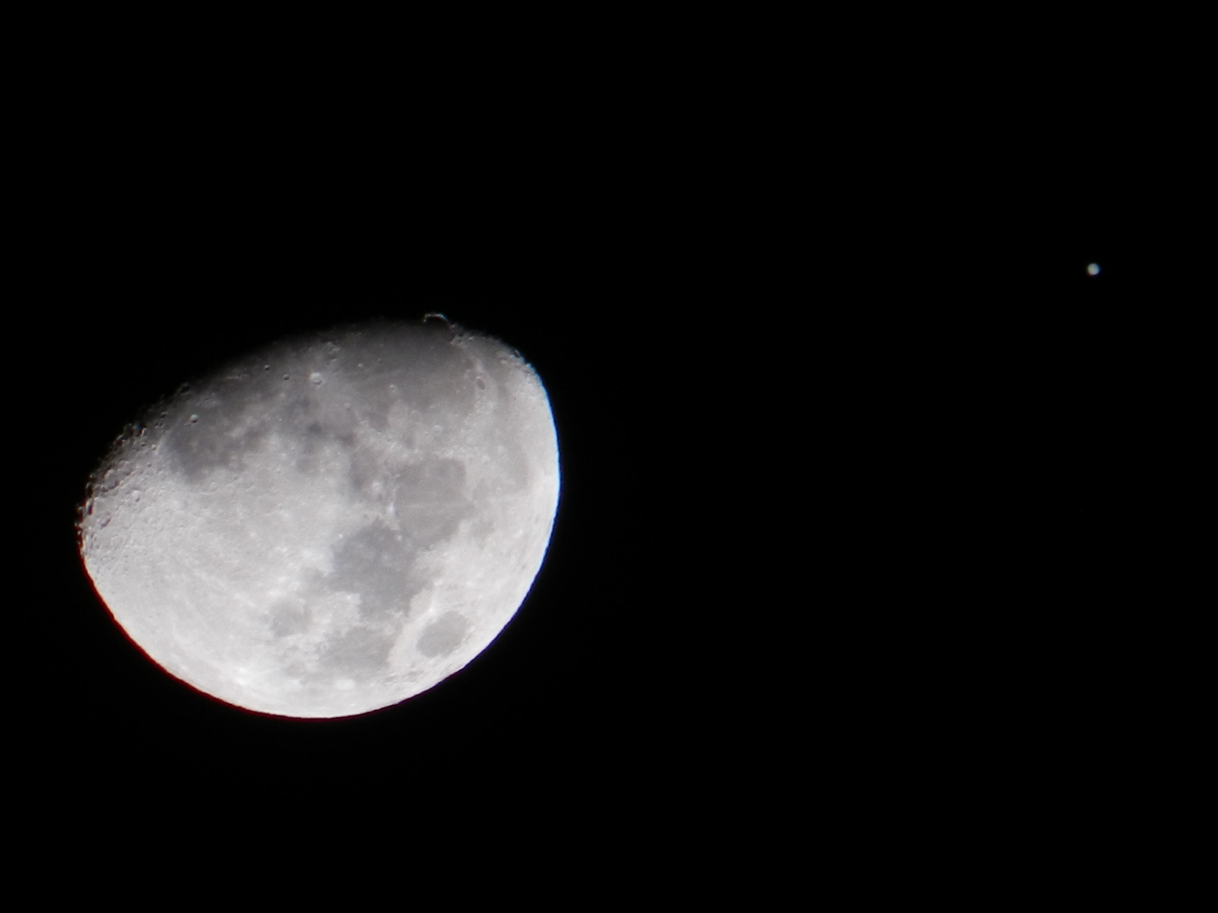 Moon and Jupiter Close Encounter