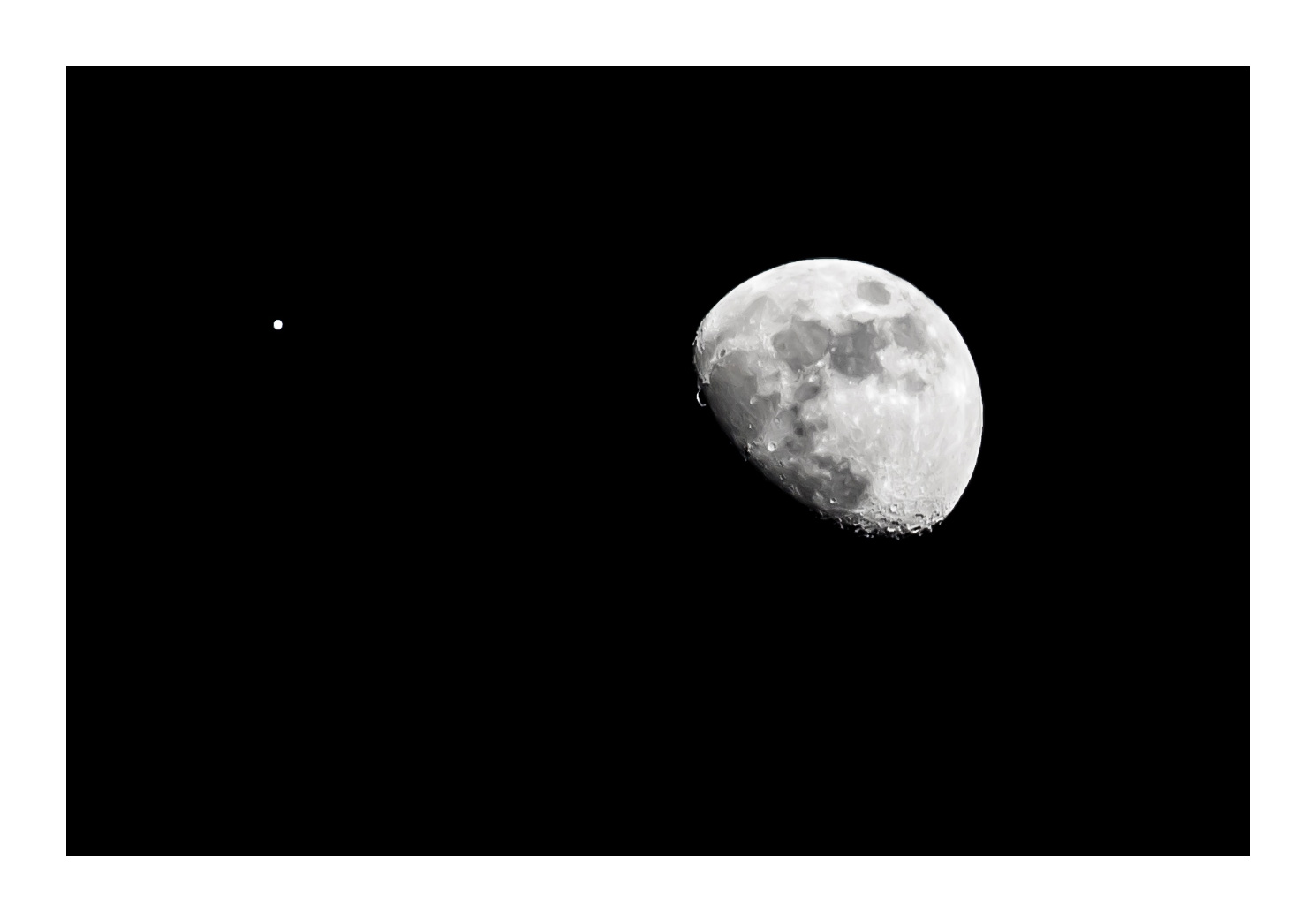 Jupiter and Moon in Conjunction Over Santa Monica