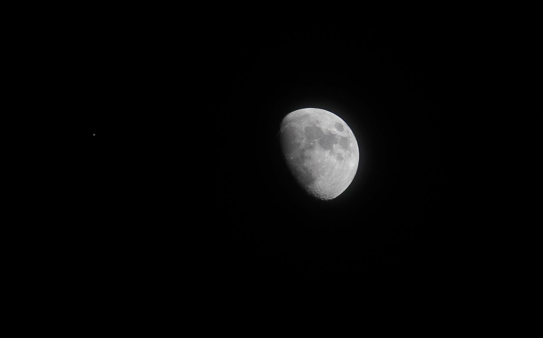 Jupiter and Moon Over South Carolina