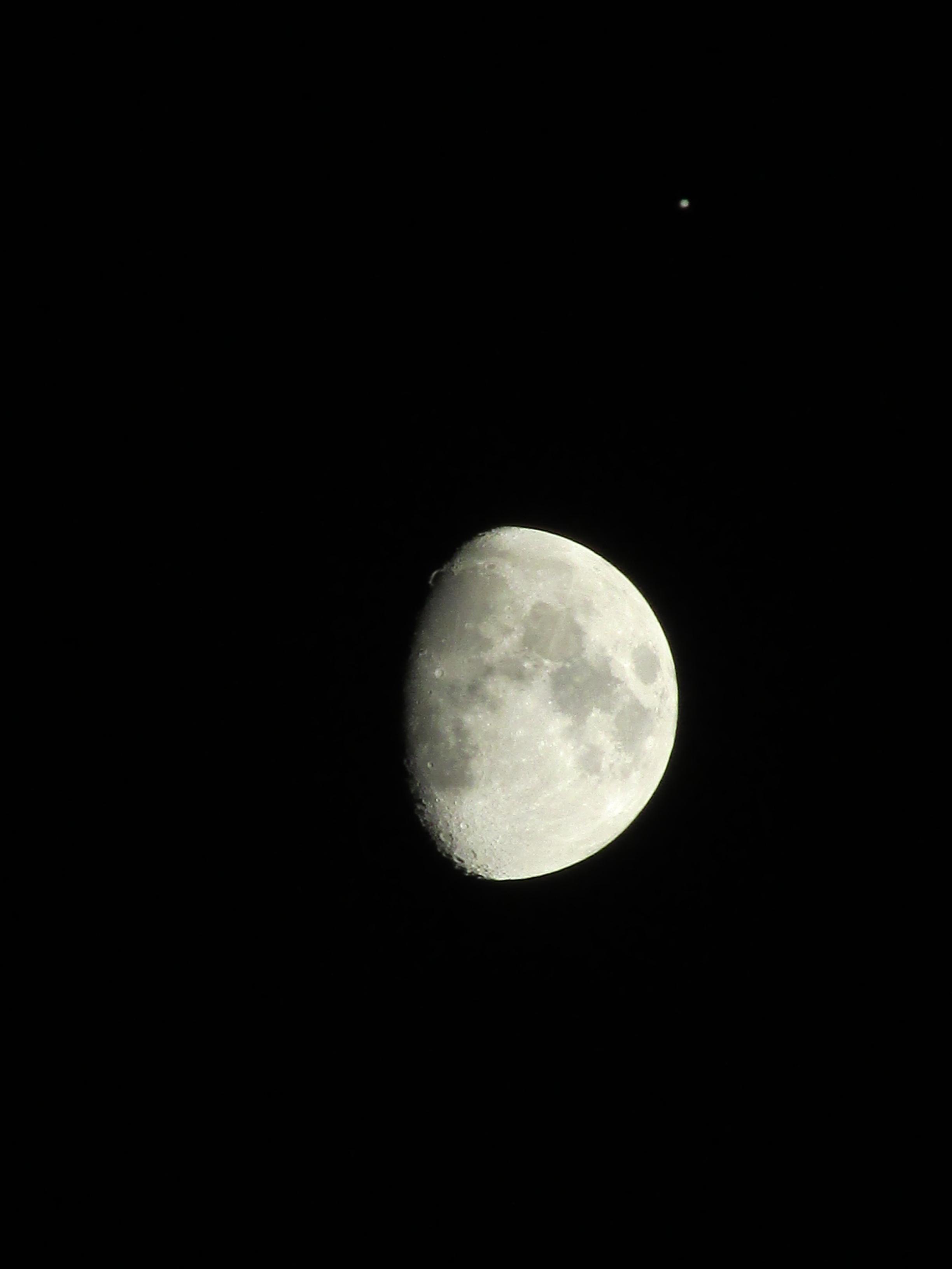 Moon and Jupiter Close Encounter Over Arizona