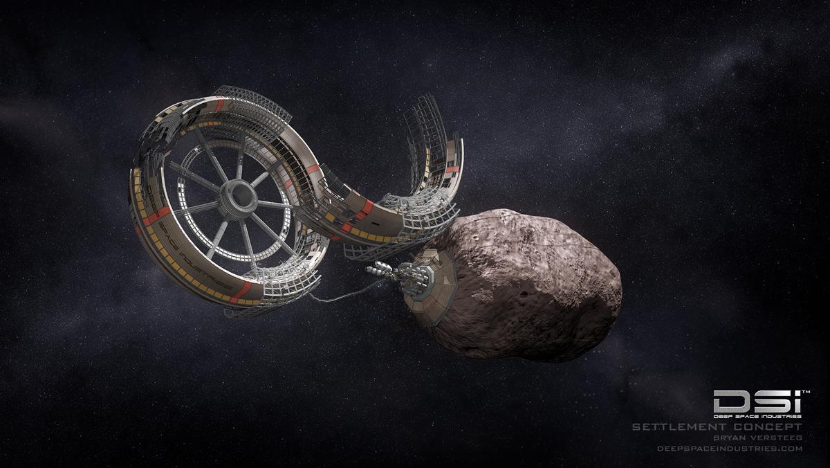 Deep Space Industries Wheel Habitat