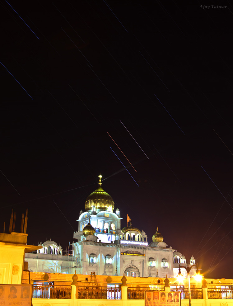 Mars, Saturn and Star Shine Over India (Photo)
